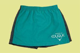 Short Saia Verde Agua Eduque Ensino Infantil