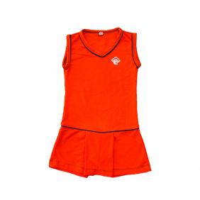 Vestido gola V Laranja Colégio Augusto Laranja (Somente E. Infantil e E. Fund I)