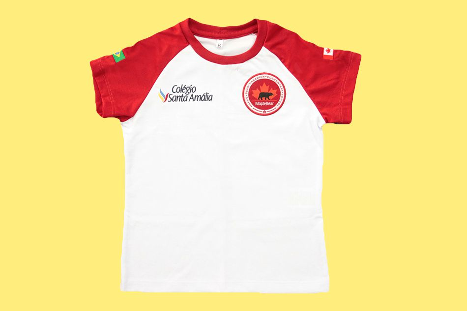 Camiseta Babylook Manga Curta Colégio Santa Amália Maple Bear Ensino Fundamental