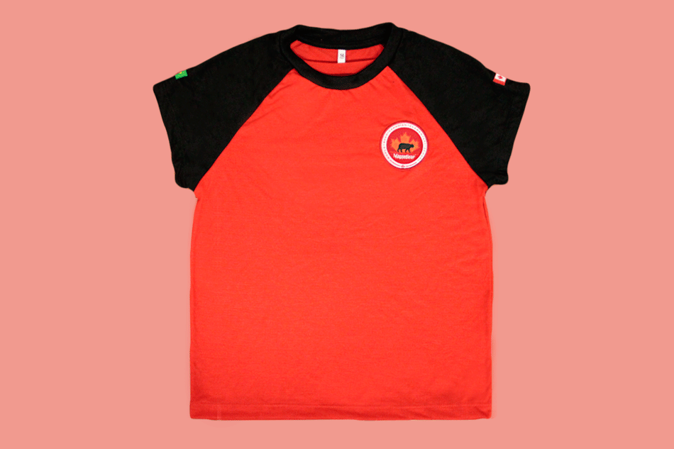 Camiseta Babylook Manga Curta Vermelha Maple Bear Ensino Fundamental II (Somente Fund II)