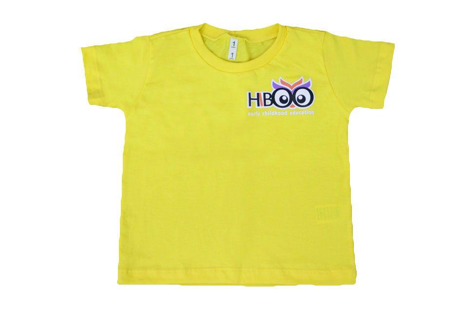Camiseta Manga Curta Amarelo Hiboo