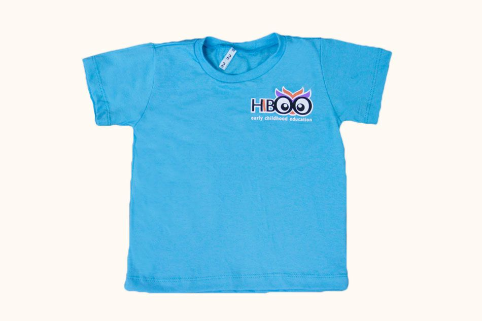 Camiseta Manga Curta Azul Hiboo