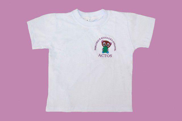 Camiseta Manga Curta Branco Actos