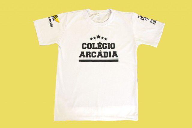 Camiseta Manga Curta Branco Arcádia