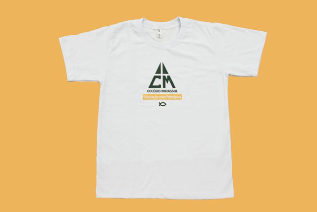 Camiseta Manga Curta Branco Colégio Mirassol