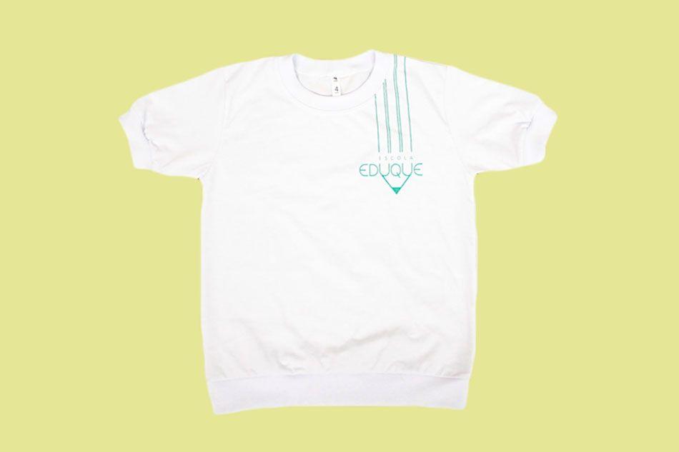 Camiseta Manga Curta Branco Eduque Ensino Infantil
