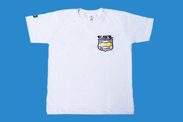 Camiseta Manga Curta Branco Externato São Rafael