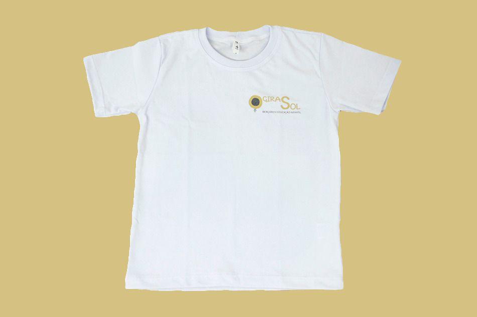 Camiseta Manga Curta Branco Girassol