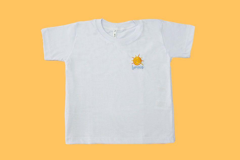 Camiseta Manga Curta Branco Luminis