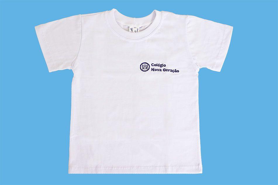 Camiseta Manga Curta Branco Nova Geração
