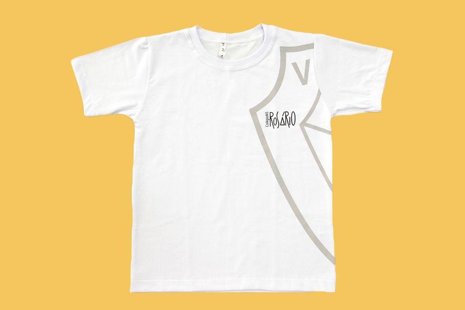 Camiseta Manga Curta Branco Rosário