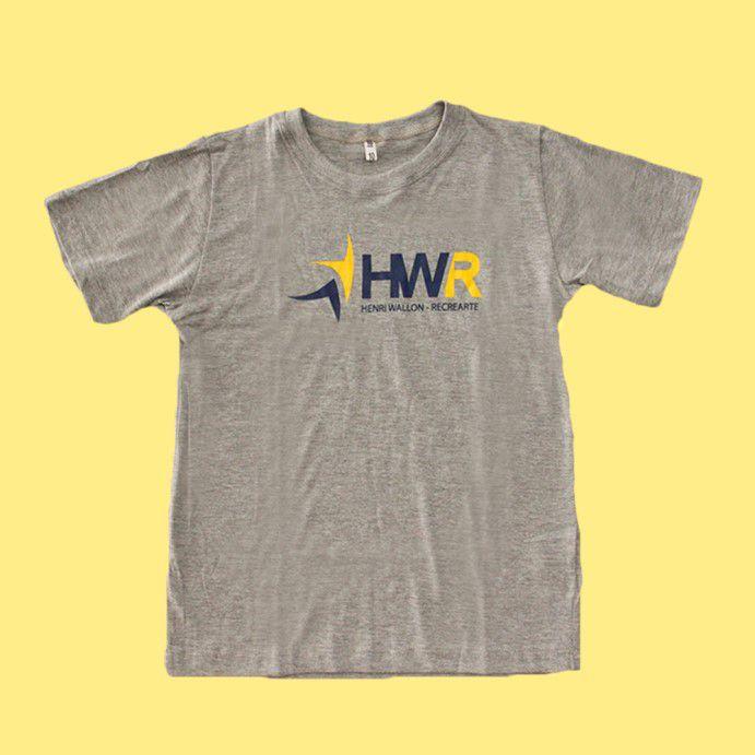 Camiseta Manga Curta Cinza Mescla Henri Wallon Recrearte