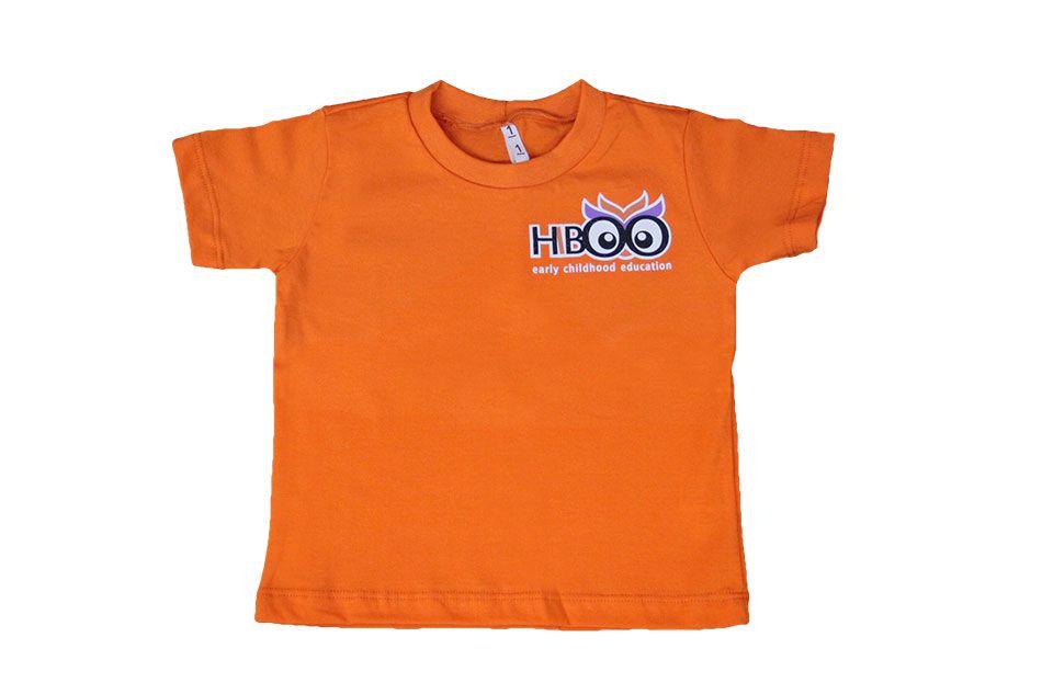 Camiseta Manga Curta Laranja Hiboo