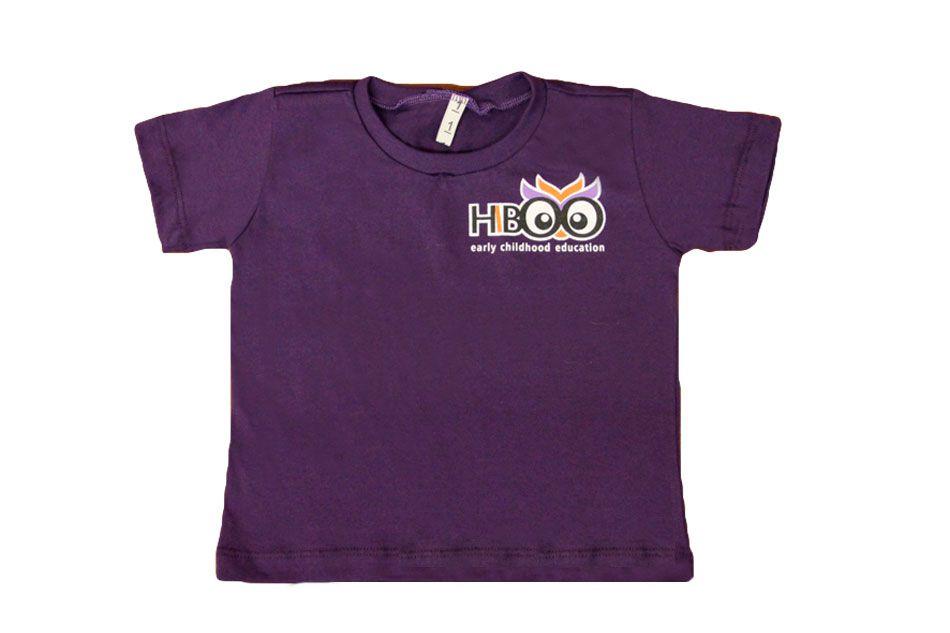 Camiseta Manga Curta Roxo Hiboo