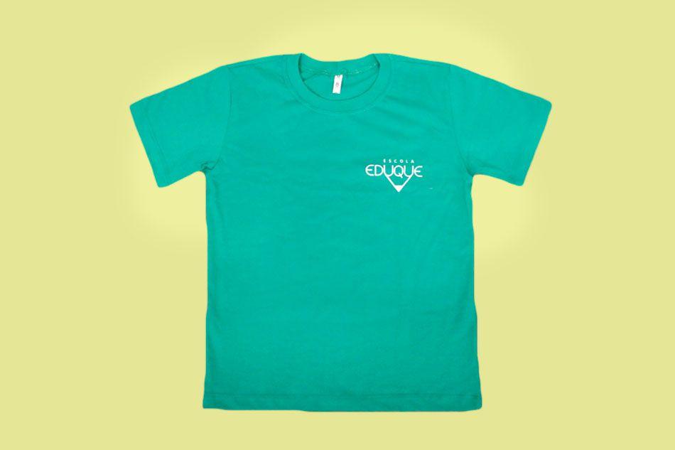 Camiseta Manga Curta Verde Agua Eduque Ensino Fundamental