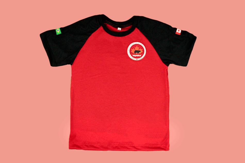 Camiseta Manga Curta Vermelha Maple Bear Ensino Fundamental II (Somente Fund II)