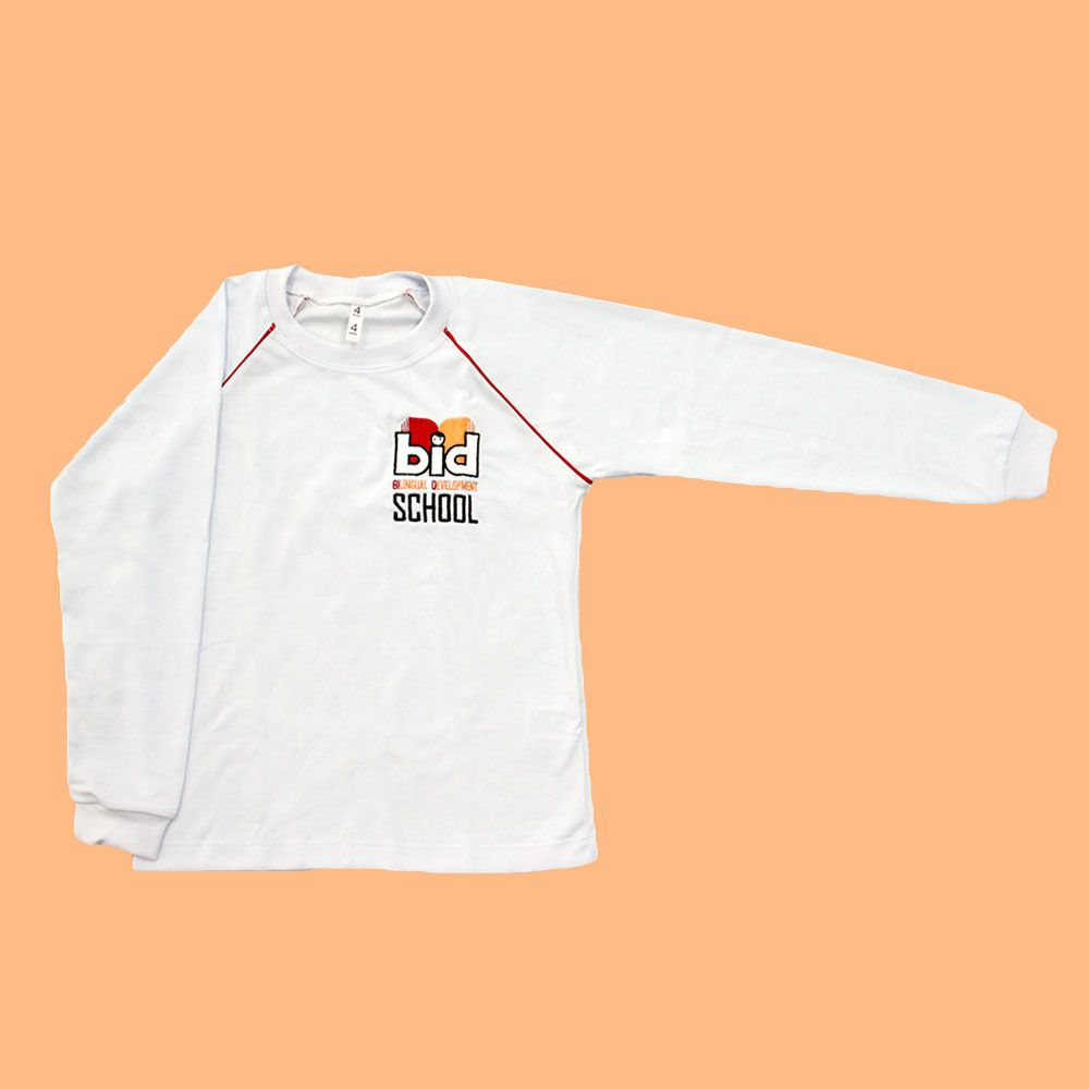 Camiseta Manga Longa Branco BID