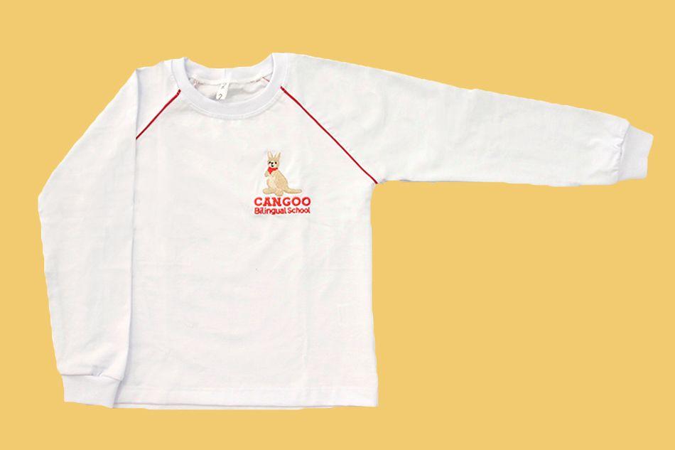 Camiseta Manga Longa Branco Cangoo