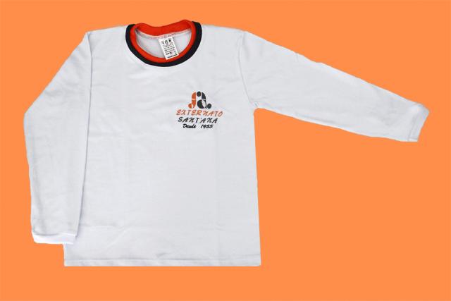Camiseta Manga Longa Branco Externato Santana