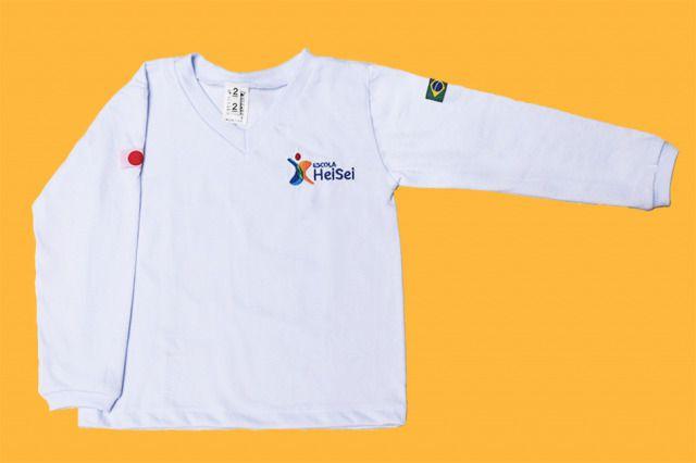 Camiseta Manga Longa Branco Heisei
