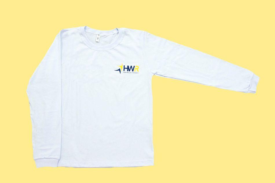 Camiseta Manga Longa Branco Henri Wallon Recrearte