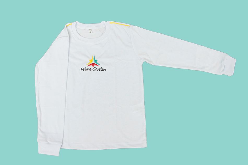 Camiseta Manga Longa Branco Prime Garden
