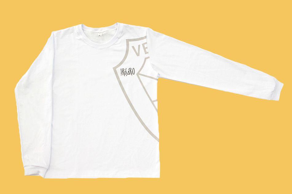 Camiseta Manga Longa Branco Rosário