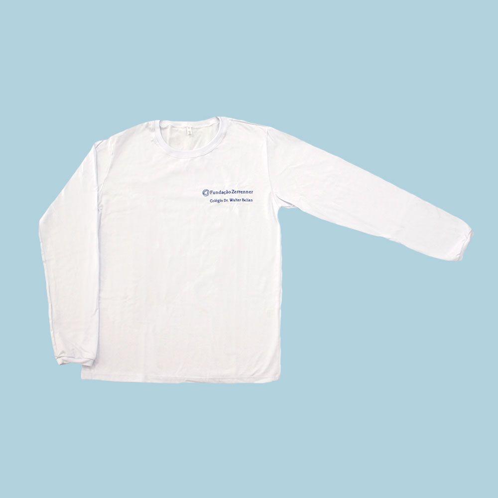 Camiseta Manga Longa Branco Walter Belian