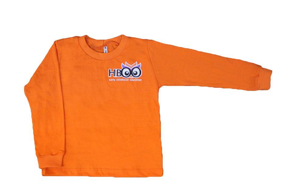 Camiseta Manga Longa Laranja Hiboo