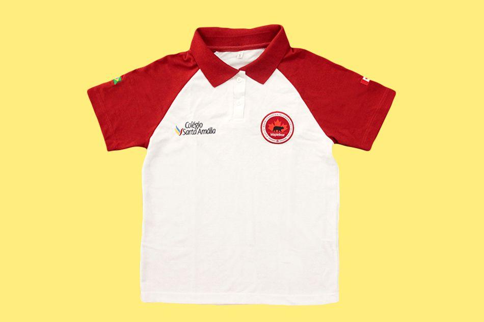 Camiseta Polo Manga Curta Colégio Santa Amália Maple Bear Ensino Fundamental