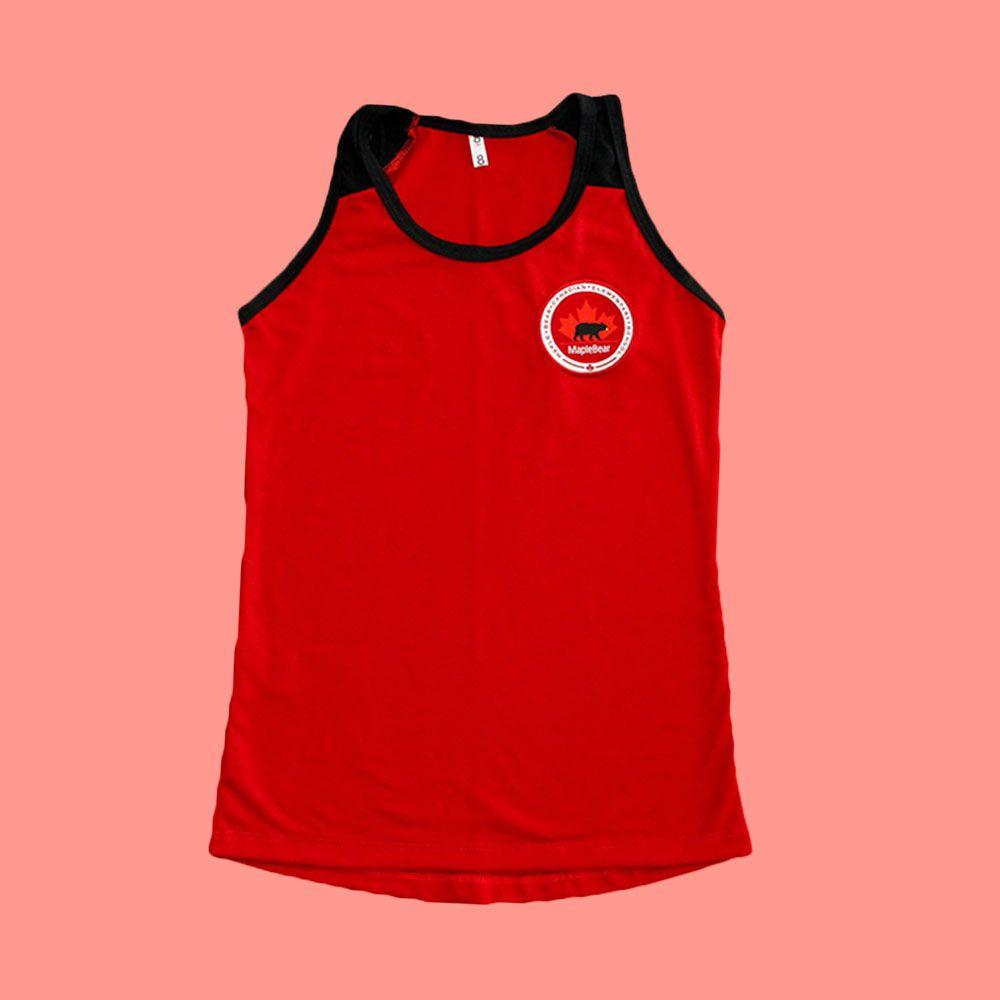 Camiseta Regata Babylook Vermelha Maple Bear Ensino Fundamental II (Somente Fund II)