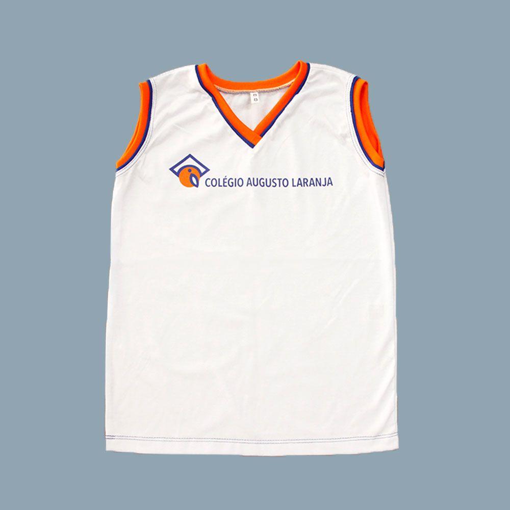 Camiseta Regata Branco Colégio Augusto Laranja (Somente E. Infantil e E. Fund I)