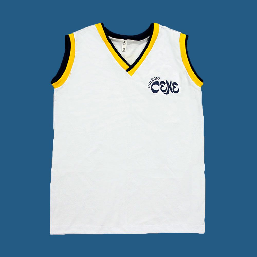 Camiseta Regata Branco Colégio Cene
