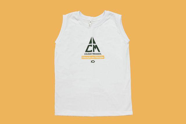 Camiseta Regata Branco Colégio Mirassol