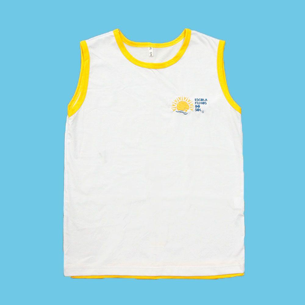 Camiseta Regata Branco Filhos do Sol Ensino Fundamental
