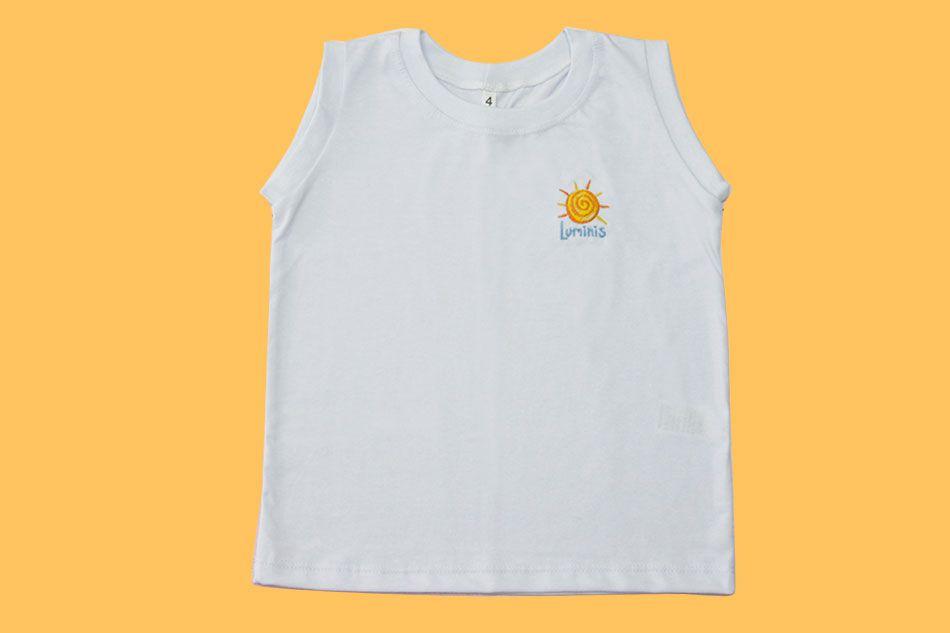 Camiseta Regata Branco Luminis