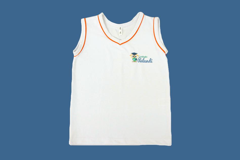 Camiseta Regata Branco Palandi