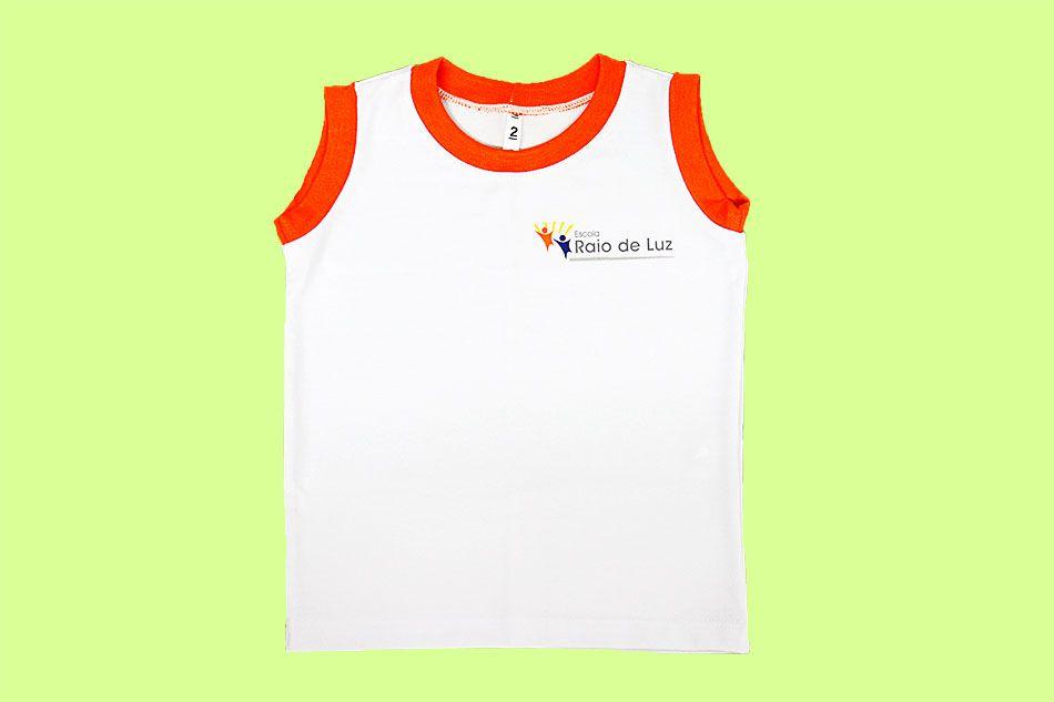 Camiseta Regata Branco Raio de Luz