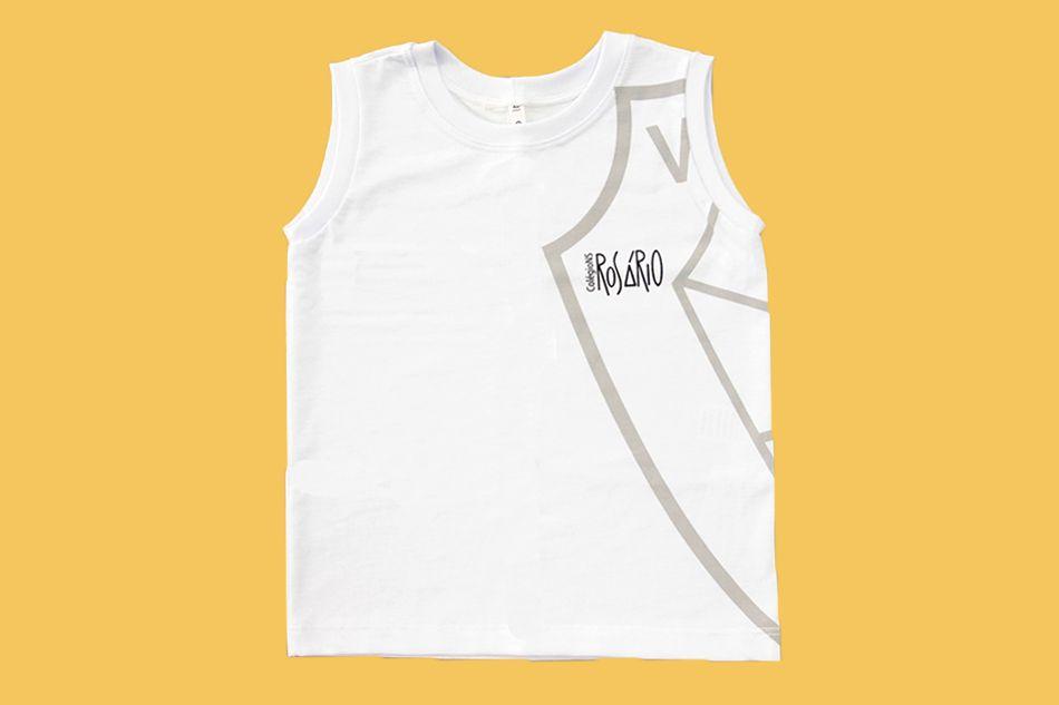 Camiseta Regata Branco Rosário