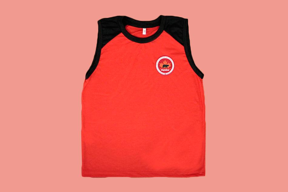 Camiseta Regata Vermelha Maple Bear Ensino Fundamental II (Somente Fund II)