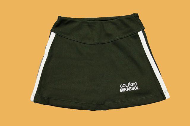 Short Saia Verde Musgo Colégio Mirassol