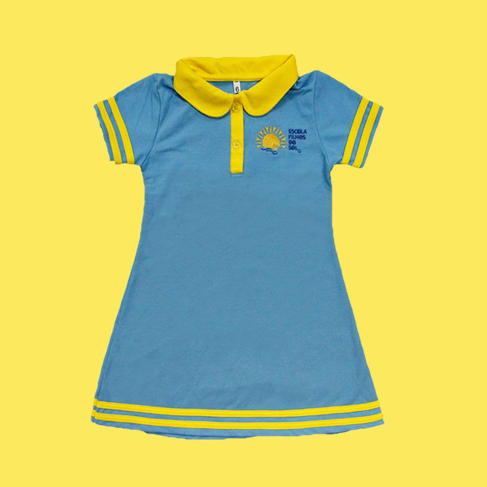 Vestido Polo Filhos do Sol Ensino Infantil