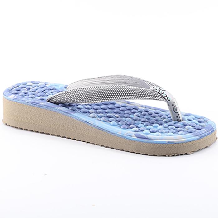 Chinelo de Dedo Anabela para Esporão e Fascite Plantar Mundoflex  - Azul/Cinza