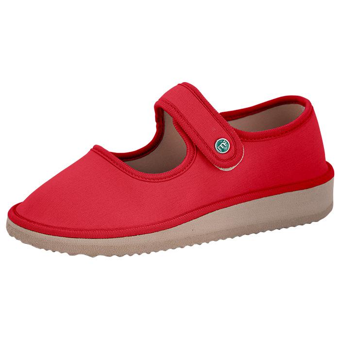Sapato Boneca para Esporão e Fascite Plantar Mundoflex - Vermelho