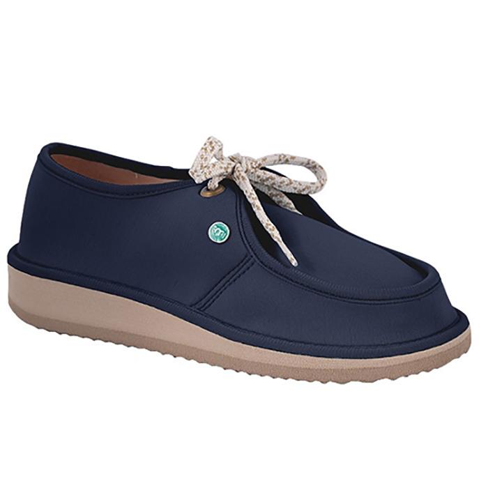 Sapato Casual para Esporão e Fascite Plantar Mundoflex - Azul Marinho
