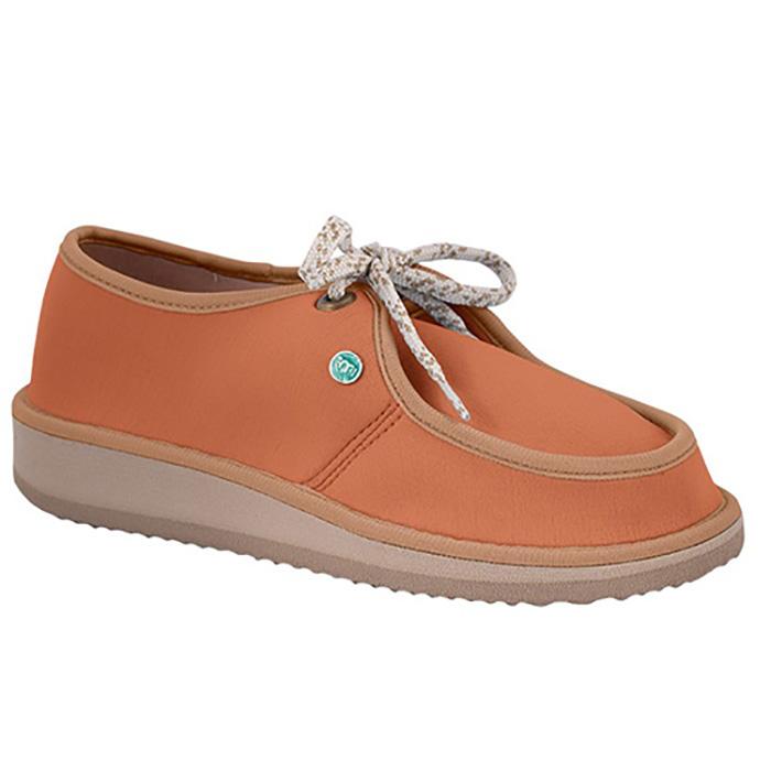 Sapato Casual para Esporão e Fascite Plantar Mundoflex - Caramelo