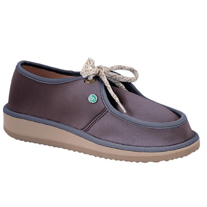 Sapato Casual para Esporão e Fascite Plantar Mundoflex - Cinza Escuro