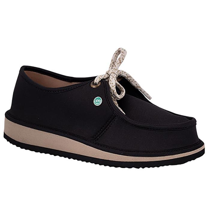 Sapato Casual para Esporão e Fascite Plantar Mundoflex - Preto