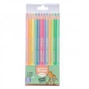 Lápis de Cor Pastel Trend - 12 cores - Corpo Perolado - Leo&Leo Leonora