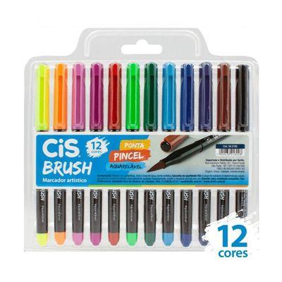 Caneta CIS Brush Pen com 12 Cores